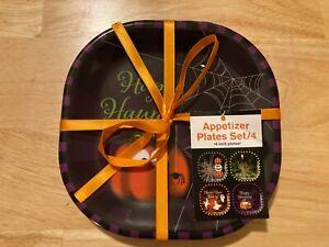 Halloween Appetizer Plates (Set of 4)