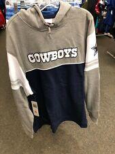 Dallas Cowboys NFL  HOODED SWEATSHIRT MENS  NAVY/GREY  MITCHELL& NESS