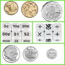 Six Sided Dice: Six Operations & Australian Coins  (3 x 2 Dice) Teacher Resource