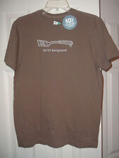 NWT MENS LIFE IS GOOD T SHIRT SMALL GRILL SERGEANT BROWN FATHERS DAY CLASSIC FIT