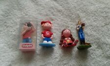 NOVELTY 4  x  CAKE TOPPERS made of CLAYDOUGH & PLASTIC----CULPITTT BRAND NEW