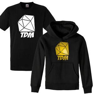 TDM DIAMOND Hoodie DAN Mine Cart Gamers Youtuber Adventures Hoody Boys Kids GOLD