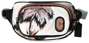 NWT Coach Palm Nylon Court Belt Bag  Peach Multi 91114
