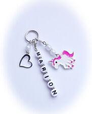 1 Einhorn Schlüssel-Anhänger + Wunschname  Geschenk Geburt Neu Mitgebsel
