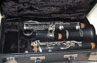 Vito B Flat Clarinet with Case Good Working Condition Age Unknown S6215