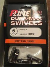 P-LINE Dura-Max Pro Series Heavy Duty Swivels, Sz #5 - 396LB, 4Pack, (Spro Type)