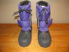 L. L. Bean Rain Snow Boots  Womens Size 4 Black Lavender Name Tag