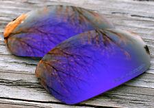 Polarized Dark Purple Mirrored Sunglass Lenses for Oakley Split Jacket Grey Tint