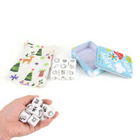 Story Dice Game Look Picture Telling A Story With Metal Box For Family GamY `