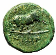 "Crete, Gortyna AE13 ""Head of Minos (Or Zeus) & Bull Butting Left"" Very Rare"