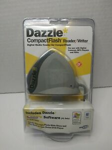 Dazzle CompactFlash Reader/Writer Digital Media Reader Software DM-8000 NEW