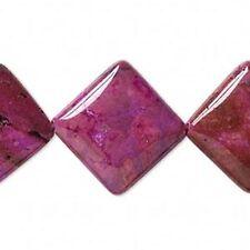 9874 Crazy Dentelle Agate Plat Diamant Perles Rose 23 mm 16 in (environ 40.64 cm) * UK boutique eBay *