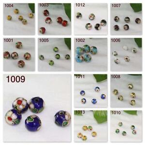 Hot Vintage Round Multi Size Cloisonne Beads DIY Gift Handmade Bracelet Jewelry