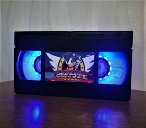 Sonic The Hedgehog Retro VHS Night Light, Sega Mega Drive, Desk Lamp, Nintendo