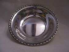 """STERLING SILVER 6"""" ROUND DISH 56 GRAMS GRAPES & LEAVES BORDER"""