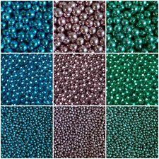 Edible Metallic Pearls Cupcake Sprinkles Cake Toppers Decoration Blue Pink Green