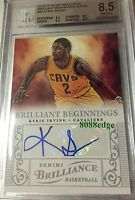 2012-13 BRILLIANT BEGINNINGS RC AUTO: KYRIE IRVING #43 ROOKIE AUTOGRAPH BGS 8.5
