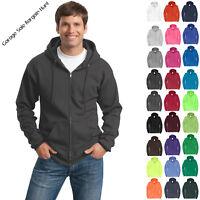 Mens Zip Up Hoodie Zippered Hooded Sweatshirt Solids Heathers Neon PC78ZH S-4XL