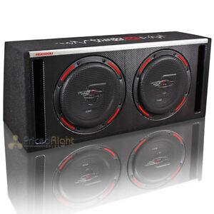 "Cerwin Vega Dual 10"" Subwoofer Box Vented Enclosure 2000W Max HED Series H6E10DV"
