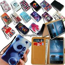 For Nokia 1 2 3 4 5 Series Flip Leather Card Wallet Stand Cover Phone Case