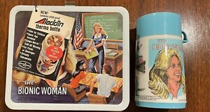 The Bionic Woman Lunchbox with Thermos and tags unused Vintage