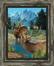 New Elk Glenson Range Wild Wings Fabric Wall or Quilt Top Panel 100% Cotton