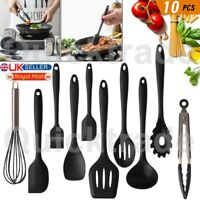 Kitchen Cooking Baking Utensils Set Silicone Spatula Turner Stainless Steel Tong