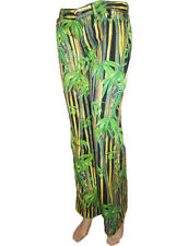 Dolce Gabbana d&g Damen TROPICAL Bamboo Print Hose Pants Jeans SZ W27 AF51