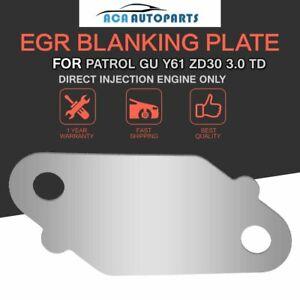 For Nissan Patrol EGR Blanking plate GU Y61 ZD30 3.0L Turbo Diesel Injection