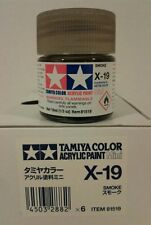 Tamiya acrylic paint X-19 Smoke 10ml Mini.