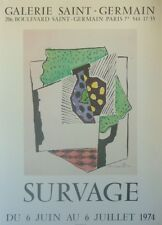 Leopold SURVAGE (1879-1968) Affiche de 1974 signée dans la planche Art Poster