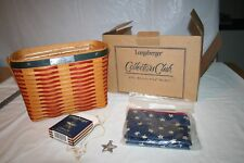 Longaberger Collector's Club Whistle Stop Basket, Tie On, Liner, Protector, Box