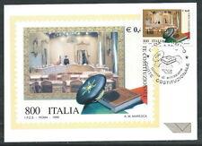 1999 ITALIA CARTOLINA MAXIMUM CORTE COSTITUZIONALE ANNULLO FDC - ED