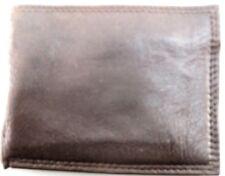 Swank Men Leather Wallet Bi-Fold Brown
