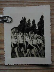 Hamburg Graudenzer Weg  Sport 1939 BDM Mädchen Sportfest  (7,5x6) Original Foto