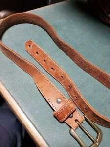 Ladies Le Sac De Mode Leather Belt 30mm Wide 28-38 Inches vintage