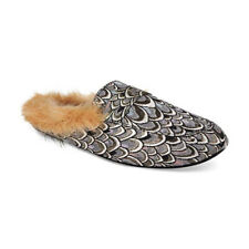 NEW International Concepts INC Faux-Fur Slide Slippers in Silver M 7/8