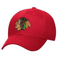 Chicago Blackhawks NHL Reebok Basic Red Pro Shape Flex Fit Hat Cap Men's L/XL