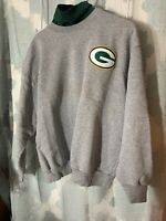 Mens Majestic Green Bay Packers Sweatshirt -XL- Mock Turtleneck