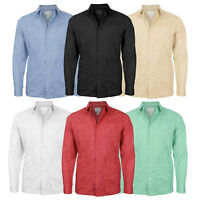 Canyon Club Men's Cuban Long Sleeve Casual Dress Shirt Guayabera SLIM FIT