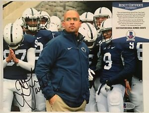 JAMES FRANKLIN SIGNED PENN STATE NITTANY LIONS 8x10 PHOTO BECKETT BAS COA D32872