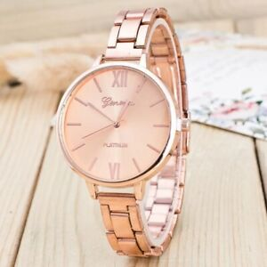 Ladies Bracelet Watches Rose Gold Womens Wrist Watch S Steel Analogue Casual UK