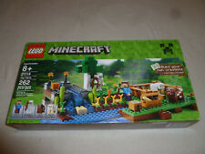 Boxed Lego Minecraft 21114 The Farm Set Complete 262 Pcs Mini Figs Skeleton Cow