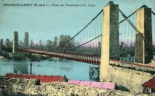 Carte BOURBON LANCY Pont du Fourneau et la Loire
