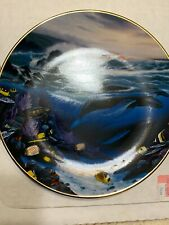 """""""Whale Waters"""" Great Mammals Of The Sea Wyland The Hamilton Whale Plate #802 New"""