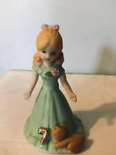 Birthday Girl Age 7 Blonde With Green Dress Enesco Growing Up