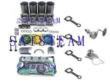 4JB1 Non-Turbo Engine Rebuild Kit&water pum&oil Pump&4 Con-Rods&25/50 75 Bearing