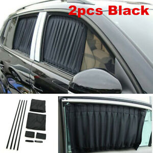 1Pair (2pcs) Car Side Side Window Sun Visor Shade Sunshade UV Protector Cover