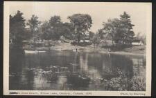 Postcard Ontario/CANADA  Perry's? Beach Elbow Lake Cottages/Cabins 1940's