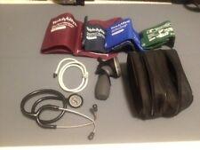 Welch Allyn DS66 Trigger Aneroid w/4 Cuff Blood Pressure Kit 5098-30 w/Case